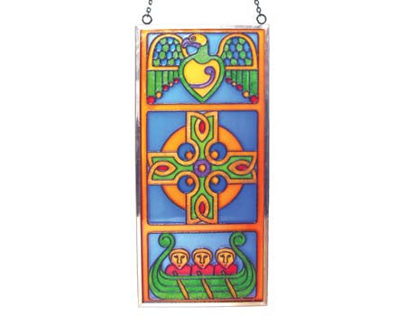 Celtic Cross Stained Glass