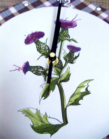 Scotland Thistle Clock