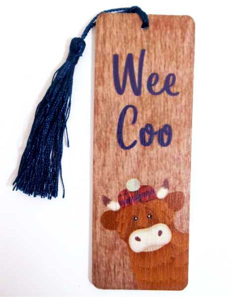 Wee Coo Wooden Bookmark