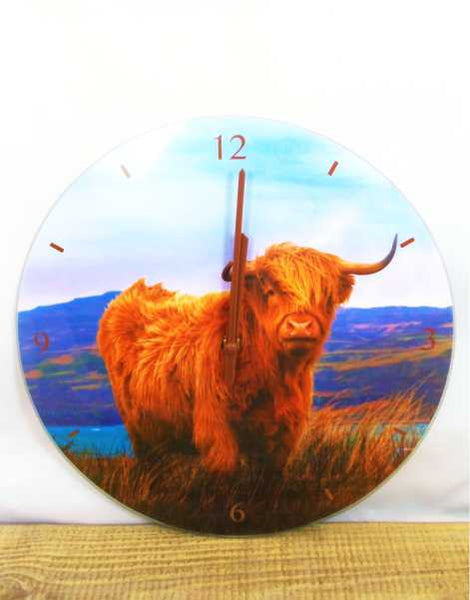 Scottish Highland Cow Clock