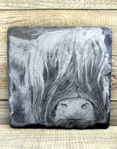 """Wee Heilan Coo"" Slate Wall Plaque"