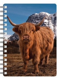 Highland Cow 3D Notebook