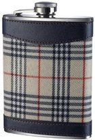 Tartan Hip Flask - 8oz - Cream