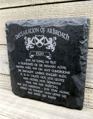Declaration of Arbroath Slate Wall Plaque