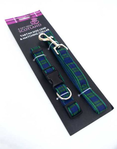 Black Watch Tartan Dog Lead and Matching Collar