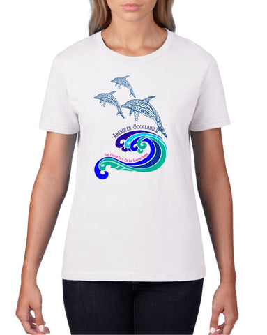 Dolphins Ladies T-Shirt (crew neck)
