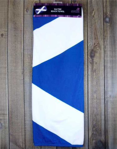 Scotland Flying the Flag Saltire Beach Towel