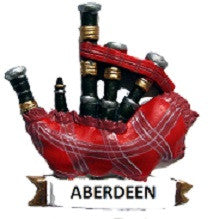 Aberdeen Bagpipes Fridge Magnet