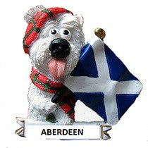 Aberdeen Westie with Saltire Flag Fridge Magnet