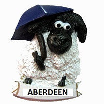 Aberdeen Sheep with Umbrella Fridge Magnet