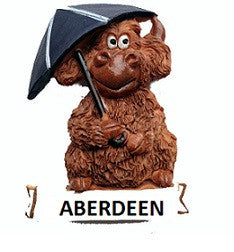 Aberdeen Highland Cow & Umbrella Fridge Magnet