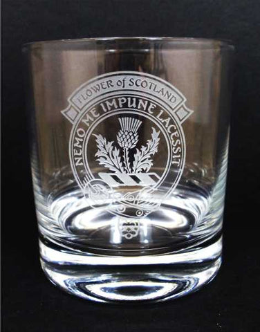 Flower of Scotland Crystal Whisky Glass