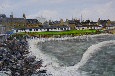 Fittie Aberdeen from breakwater by Stan Fachie