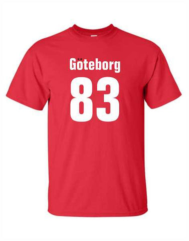 Goteborg 83 - Red Adult T-Shirt