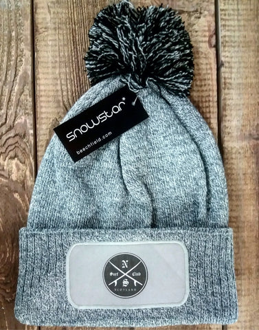 North Sea Surf Club Scotland Jedi Bobble Hat - Grey