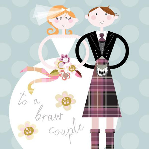 Wedding Card - A Braw Couple