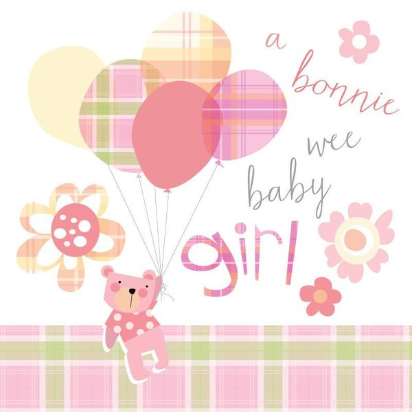 congratulations of your baby girl card bonnie baby