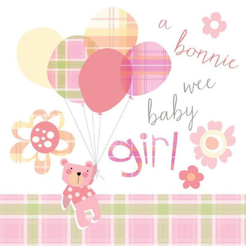 Congratulations of Your Baby Girl Card - Bonnie Baby