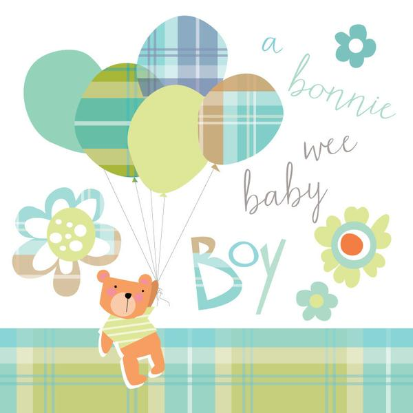 Congratulations of Your Baby Boy Card - Bonnie Wee Baby