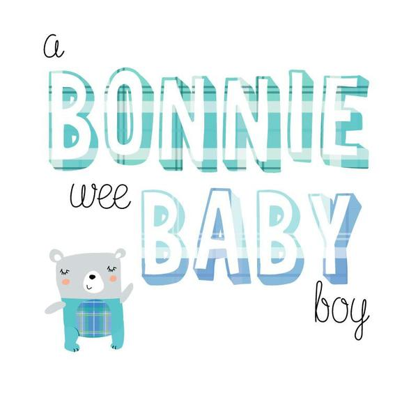 Congratulations of Your Baby Boy Card - Bonnie Wee Baby Boy