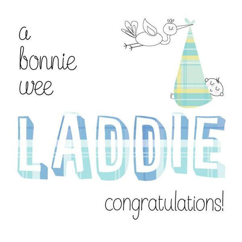 Congratulations of Your Baby Boy Card - Laddie