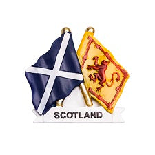 Saltire/Lion Fridge Magnet