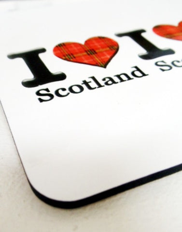 I Love Scotland set of 4 Coasters