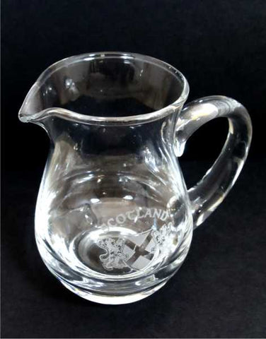 Scottish Crystal Whisky Water Jug - Scotland Saltire and Rampant Lions
