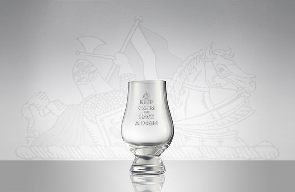 "The Glencairn Official Tasting Glass ""Keep Calm and Have a Dram"""