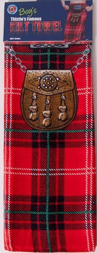 Kids Kilt Towel Red