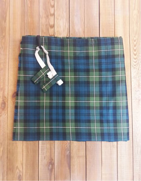 Ex Hire Wool Kilt with Flashes - Lamont Muted