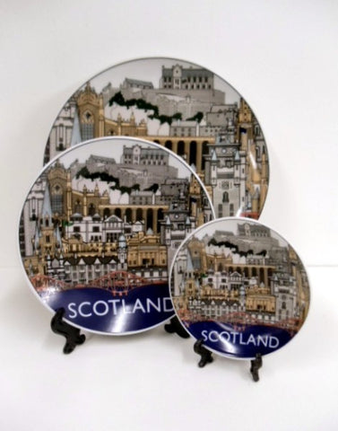 Landmarks of Scotland Ceramic Plate