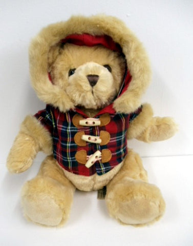 Hamish Bear with Tartan Duffle Coat - Large