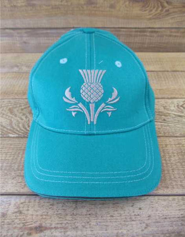 Scotland Green Thistle Stitched Baseball Cap