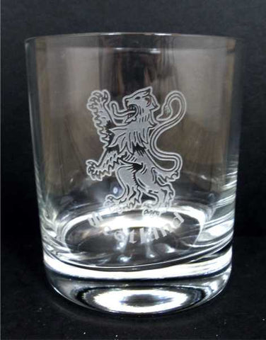 Rampant Lion Scotland Crystal Whisky Glass