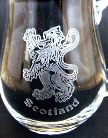 Scottish Crystal Whisky Water Jug - Rampant Lion