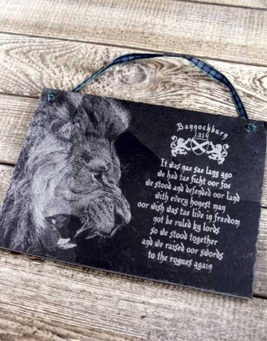 Bannockburn Lion Slate Wall Plaque