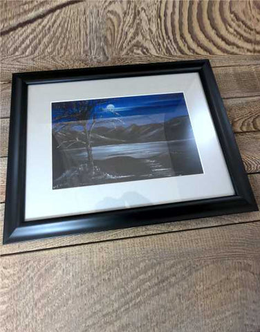 """Loch Lomond by Night"" Original Framed Water Based Oil Painting"