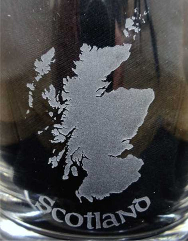 Scotland Map Crystal Whisky Glass