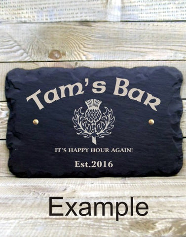 Personalised Bar Sign (Thistle A)