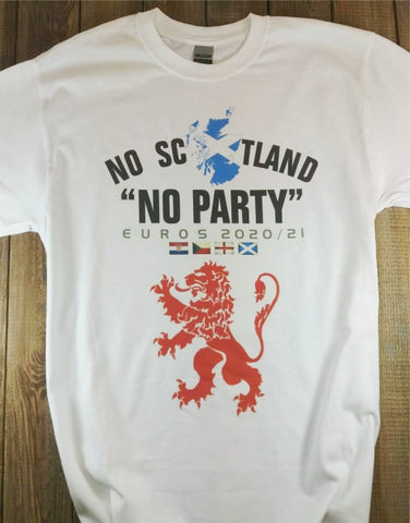 No Scotland No Party (White T Adult)