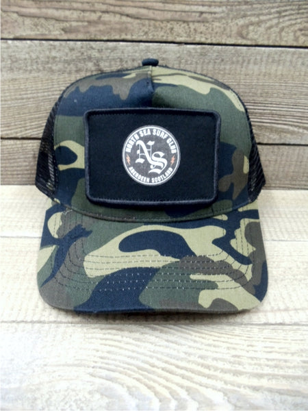 North Sea Surf Club Aberdeen Scotland Trucker Patch Cap CAMO