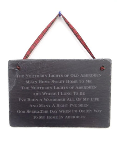 Slate Plaque - Northern Lights Of Old Aberdeen