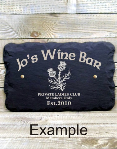 Personalised Bar Sign (Thistle B)
