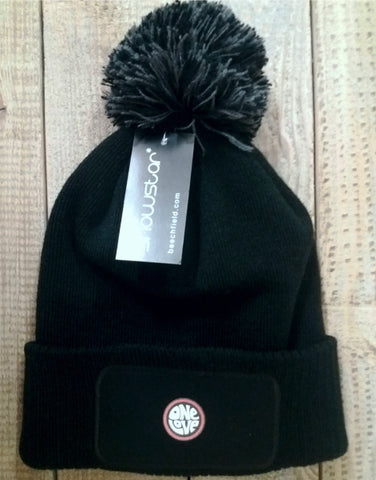 One Love Bobble Hat - Black