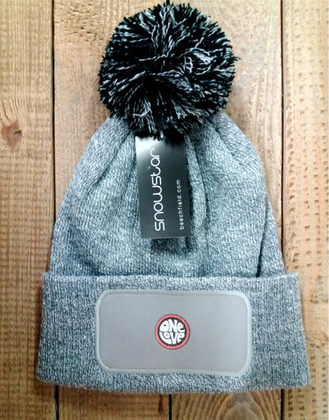 One Love Bobble Hat - Grey