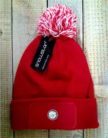 One Love Bobble Hat - Red