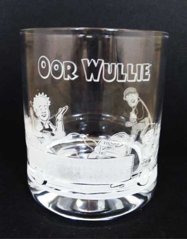 Oor Wullie Crystal Whisky Glass