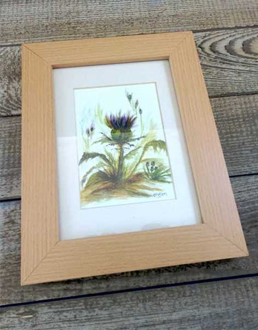 """Thistle"" Original Water Based Oil Painting by Margaret Burns Miles"