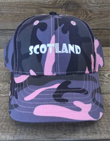 Scotland Ladies/Women's Camouflage Baseball Cap